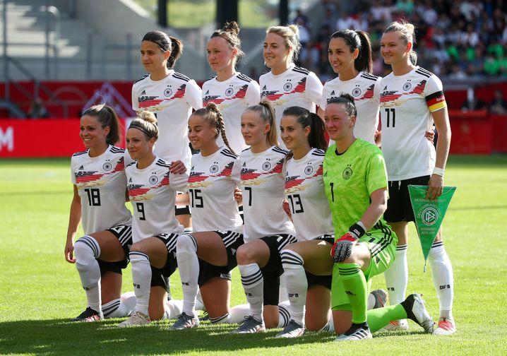 Das deutsche Team im Test gegen Chile