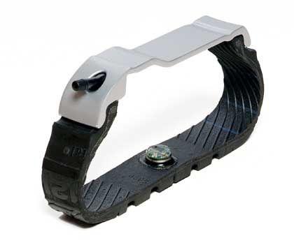 Schlauer Pneu: Das Gehirn des Reifens, ein sieben Gramm schwerer Sensor, sitzt an der Innenseite der Reifenlauffläche