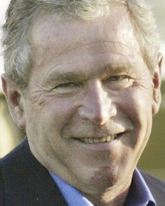 Leicht lädiert: Bush nach dem unfreiwilligem Abstieg vom Fahrrad