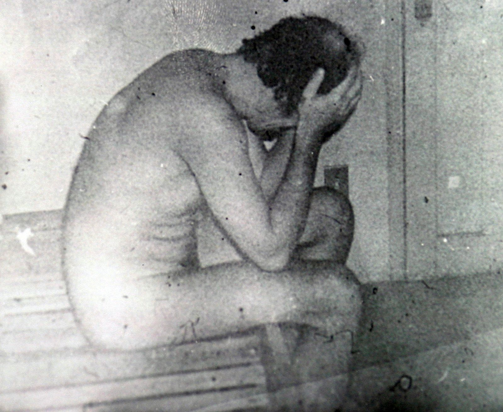 Handout file photo of Brazilian left wing journalist Herzog in an army cell shortly before 1975 death