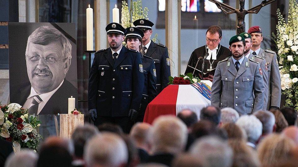 Lübcke-Trauerfeier im Juni 2019: Stephan Ernst ist wegen des Mordes an dem CDU-Politiker angeklagt
