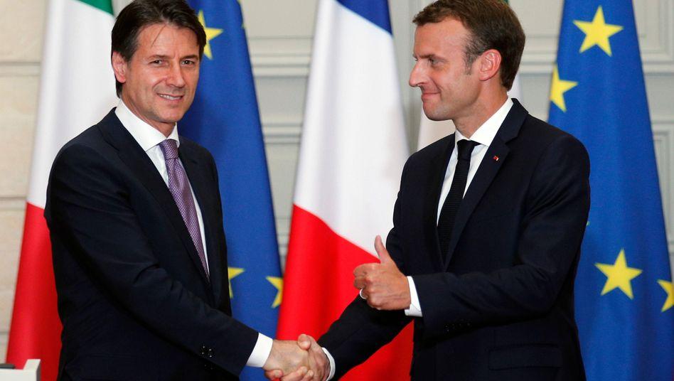 Giuseppe Conte und Emmanuel Macron