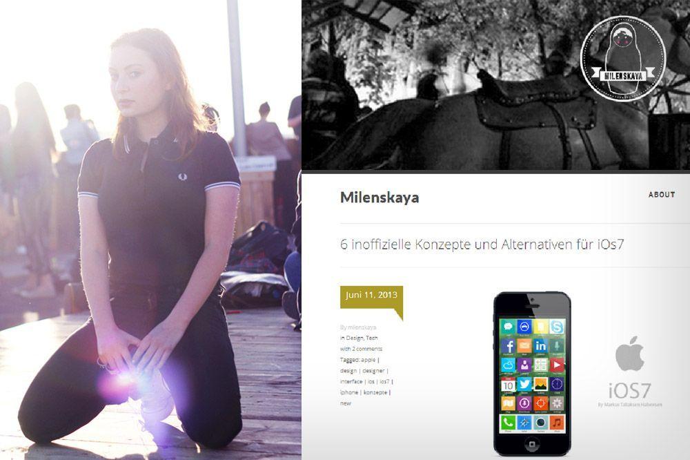 NUR ALS ZITAT Screenshot Blogger / 8_milena