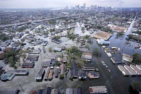 Überflutungen in New Orleans: Die Küsten Louisianas werden von einem Meeresspiegelanstieg betroffen sein