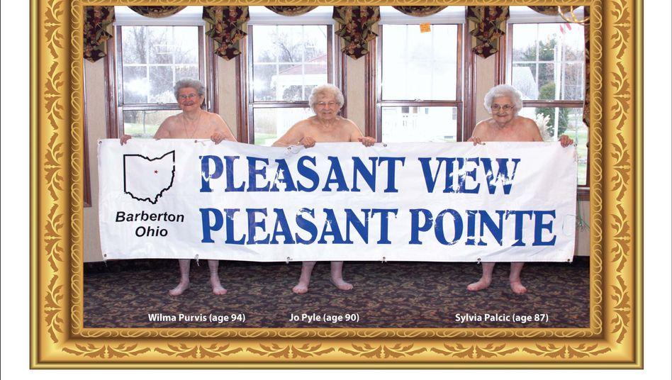 Seniorinnen auf Kalender: Angenehmer Anblick