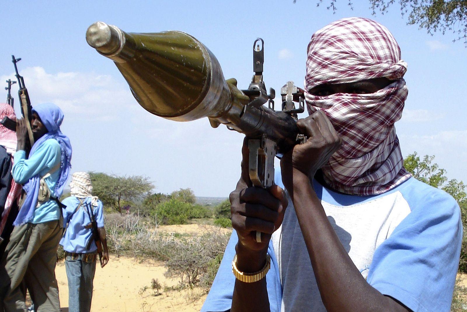 Aufständischer Somalia mit Panzerfaust
