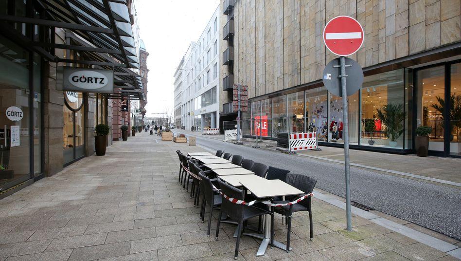 Hamburger Innenstadt im Shutdown