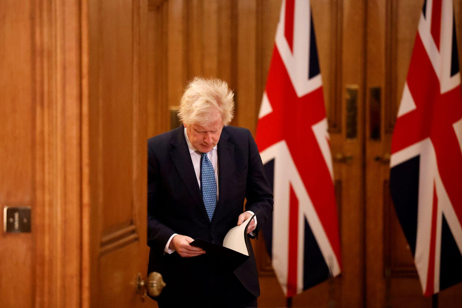 Boris Johnson Holds Virtual Press Conference On Latest Coronavirus Developments