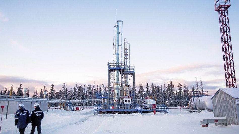 Gasaufbereitungsanlage in der Region Irkutsk, Sibirien