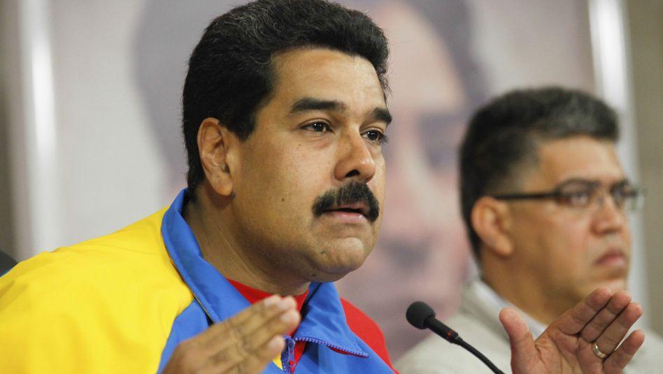 Präsident Maduro: Angeblich Ausstellung von US-Visen angeboten
