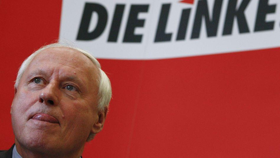 Oskar Lafontaine: Der Linke-Chef lässt seine politische Zukunft vorerst weiter offen