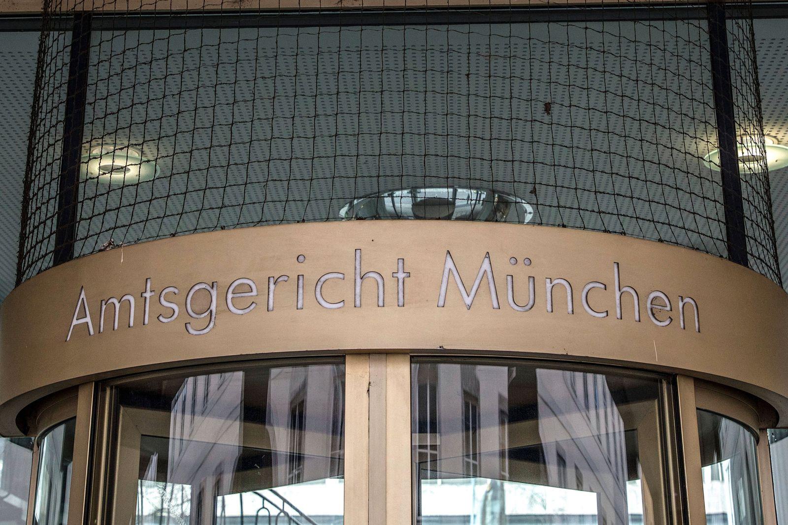 Muenchen, Deutschland 29. November 2020: Schriftzug, Amtsgericht München, Amtsgericht Muenchen, Bayern *** Munich, Germa