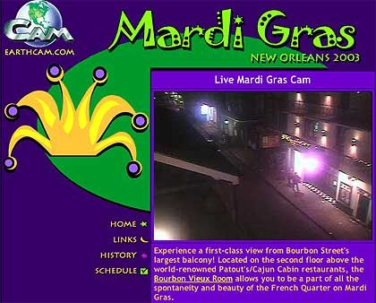 Webcam Bourbon Street: Ruhe vor dem Sturm