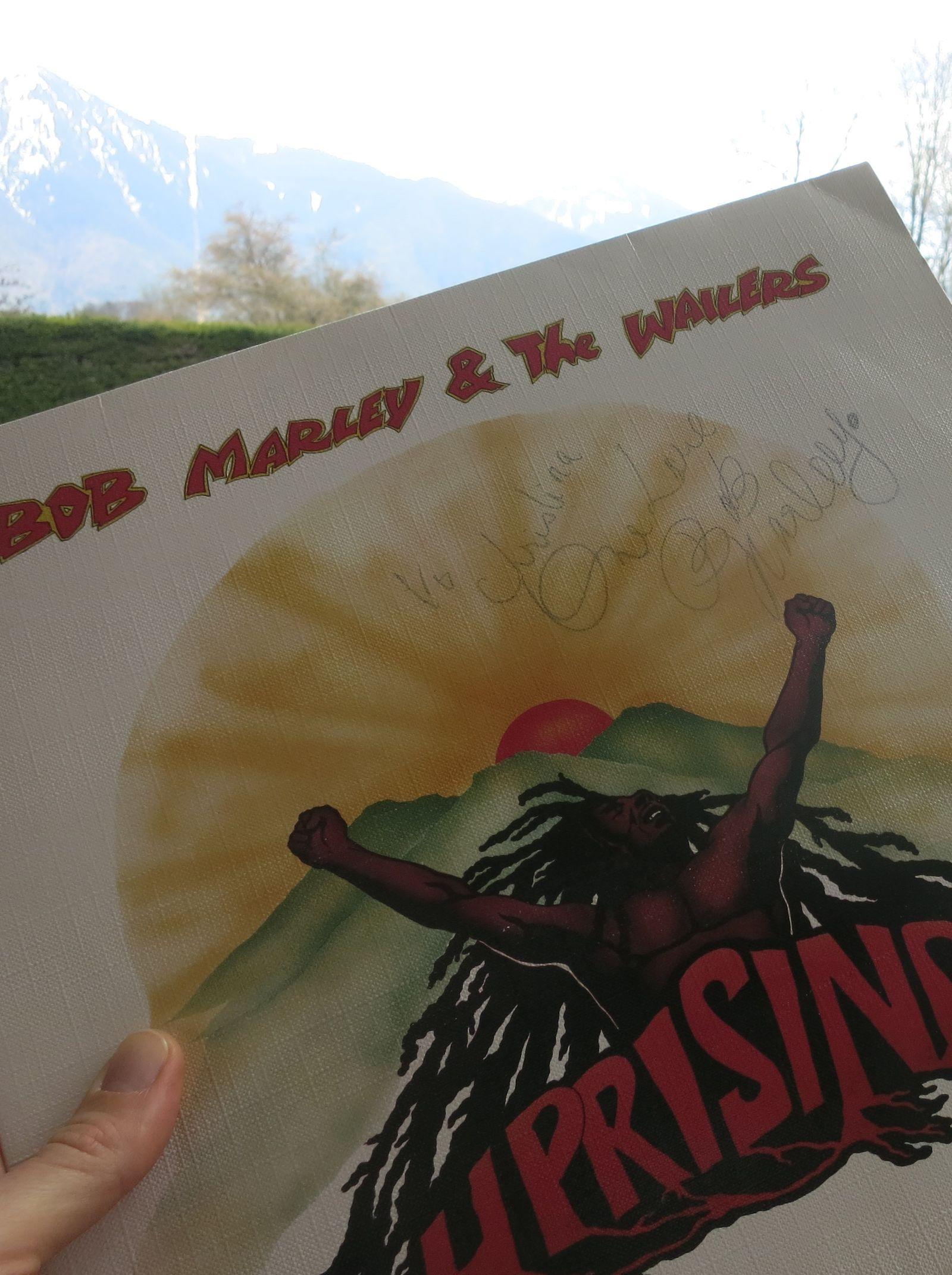 To Christina One Love Bob Marley Signiertes Uprising-Album ©Stephan Kroener zugeschnitten
