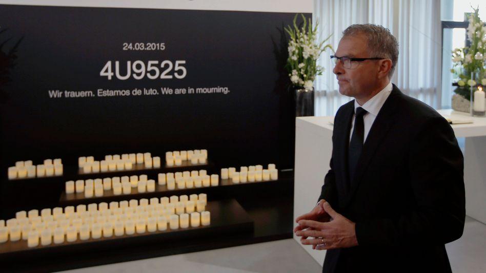 Lufthansa-Chef Carsten Spohr (Archiv): Brief von Angehörigen der Germanwings-Opfer