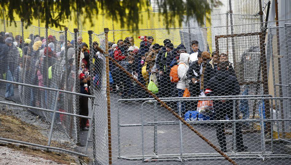Flüchtlinge an der Grenze zu Österreich