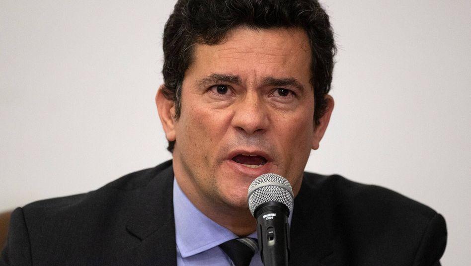 Sérgio Moro bei der Ankündigung seines Rücktritts am 24. April