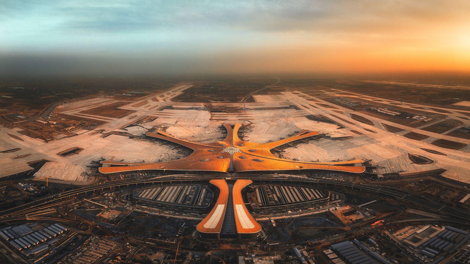 Beijing Daxing Airport Aerial Photograph PUBLICATIONxNOTxINxCHN 637061014335652019