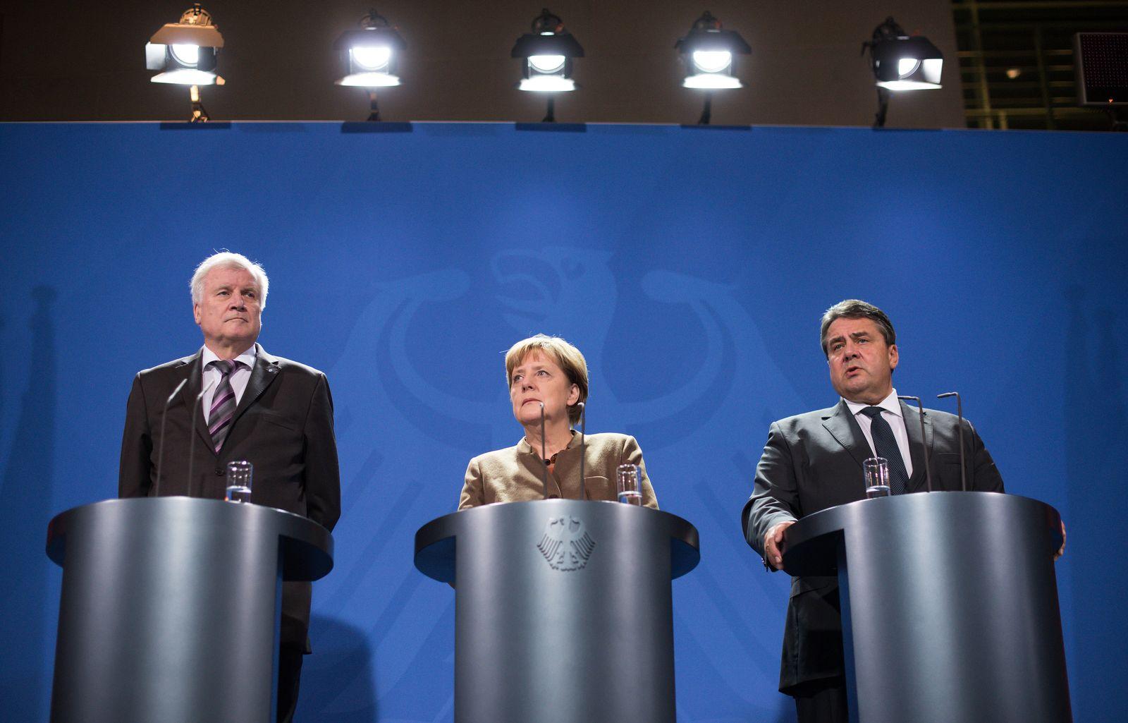 Koalitionsspitzen zur Flüchtlingspolitik