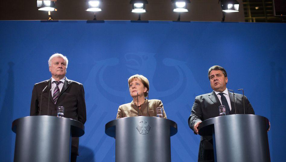 """Seehofer, Merkel, Gabriel: """"Die Stimmung an der Basis ist unterirdisch"""""""
