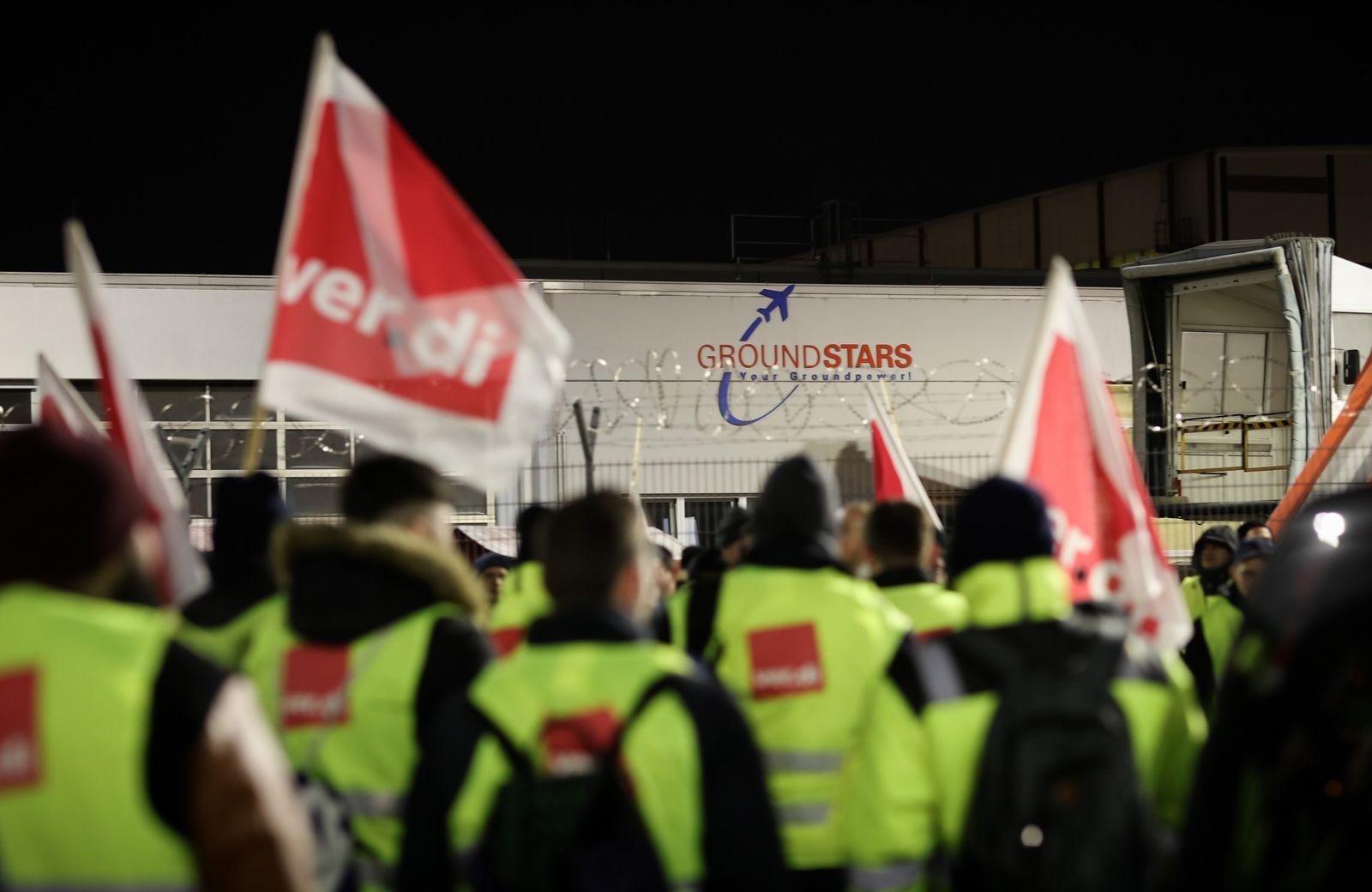 Warnstreik am Flughafen Hamburg