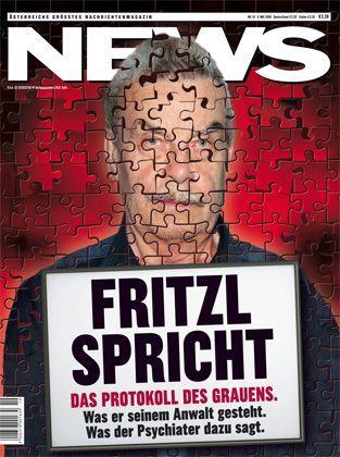 """Das aktuelle Cover der """"News"""": """"Fritzl spricht"""""""
