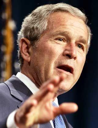 """U.S. Präsident Bush: """"Eine starke Allianz formen"""""""