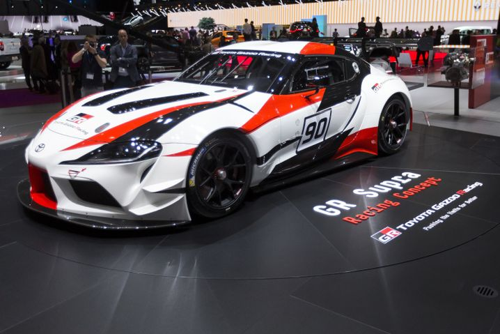 Den Prototyp eines Supra Rennwagens zeigte Toyota im März
