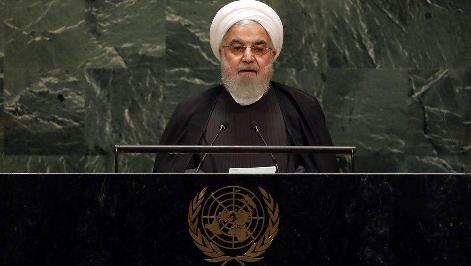 """Hassan Rohani vor der Uno: """"Stoppen Sie die Sanktionen"""""""