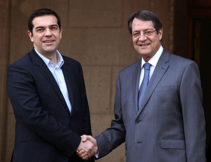 Griechischer Premier Tsipras, zyprischer Präsident Anastasiadis: Enge Bande