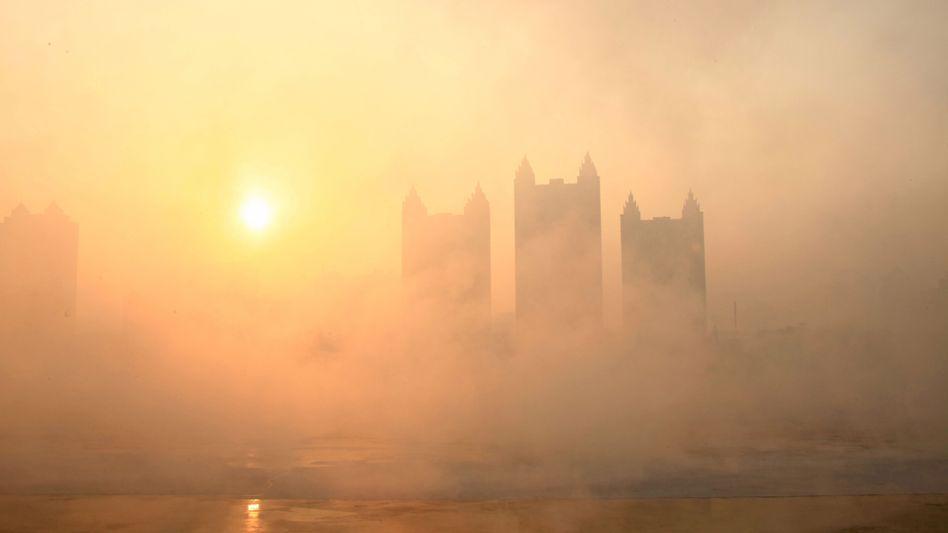 Stadt Jilin am 22. Januar: Auch diesen Winter kämpft China mit dem Smog