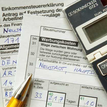 Steuererklärung: Asta-Mitarbeiter, an die Formulare