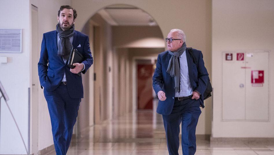 DFB-Generalsekretär Friedrich Curtius (links) und DFB-Präsident Fritz Keller: Karrierist gegen Capo