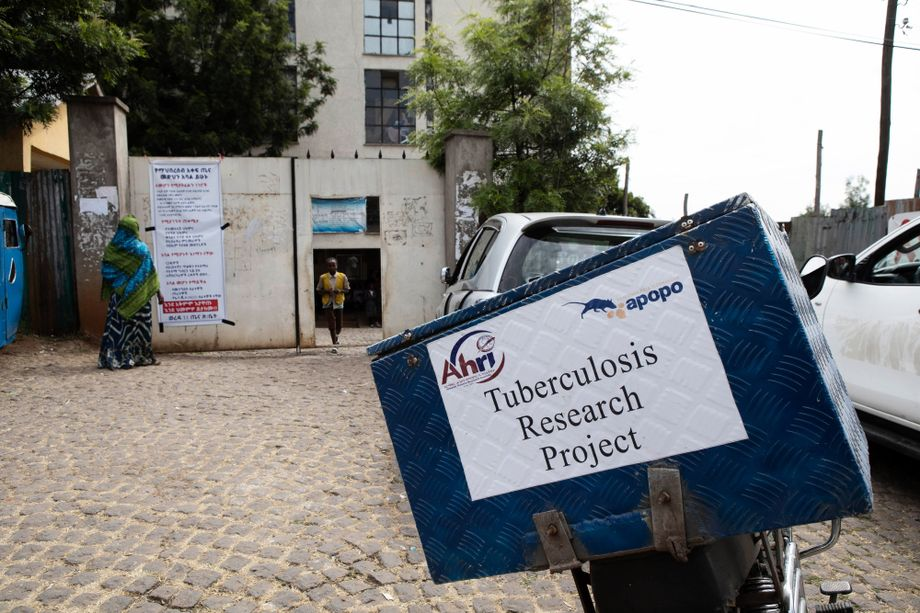In diesen Boxen transportieren Motorradkuriere Sputum-Proben durch ganz Addis Abeba. Jeden Tag sind fünf von ihnen im Einsatz und fahren über 50 verschiedene Krankenhäuser ab