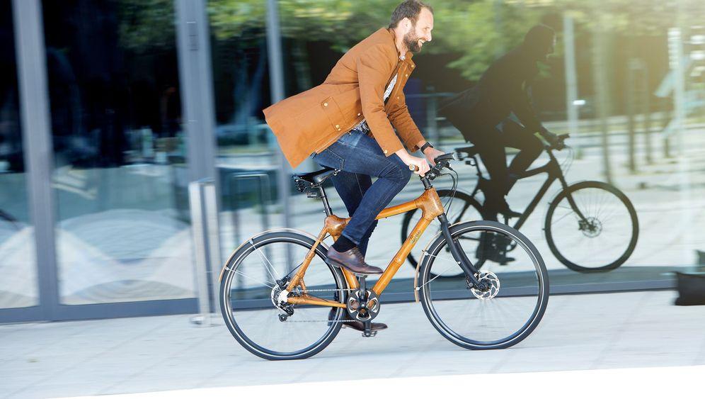 Exotische Fahrräder: Radeln auf Bambus