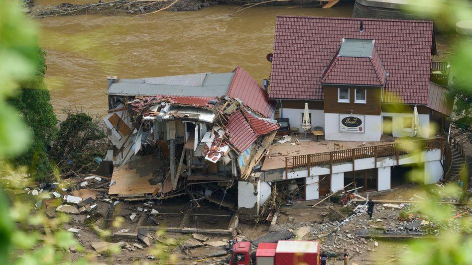 Zerstörte Häuser im Ahrtal