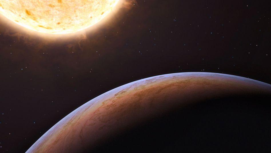 So stellt sich ein Künstler einen Exoplaneten und seinen Stern vor