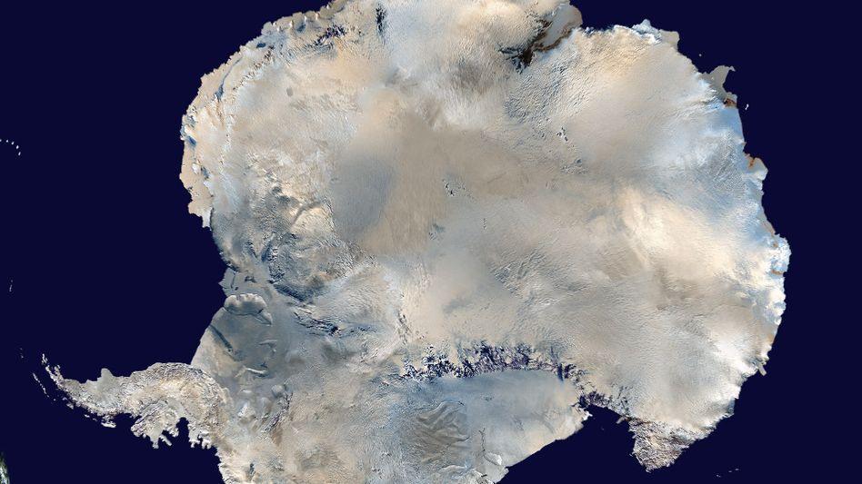 Antarktis: Seit fünf Jahren taut auch der Südwesten des Kontinents, genauer: der westliche Rumpf jener fingerförmigen Landzunge (links unten).