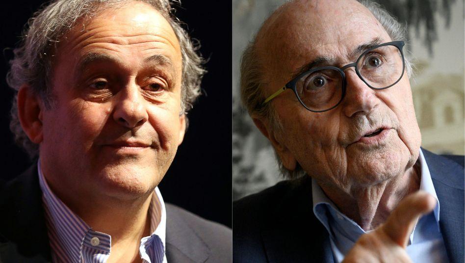 Michel Platiniund Sepp Blatter