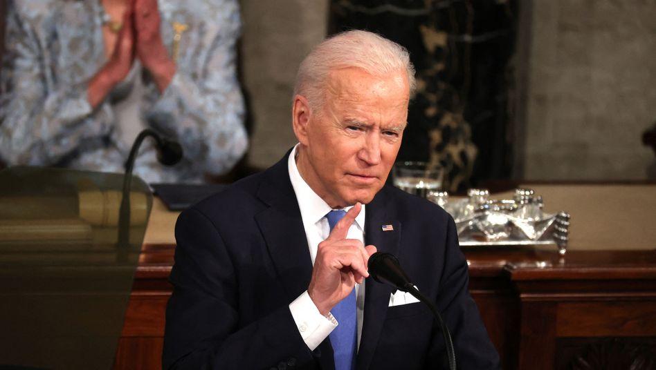 Joe Biden vor dem Kongress