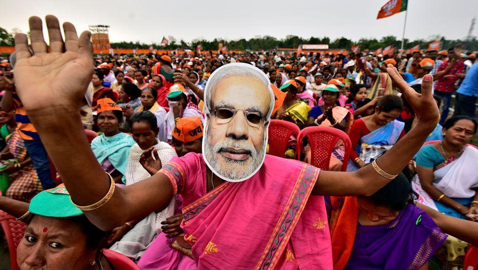 Unterstützer von Ministerpräsident Narendra Modi