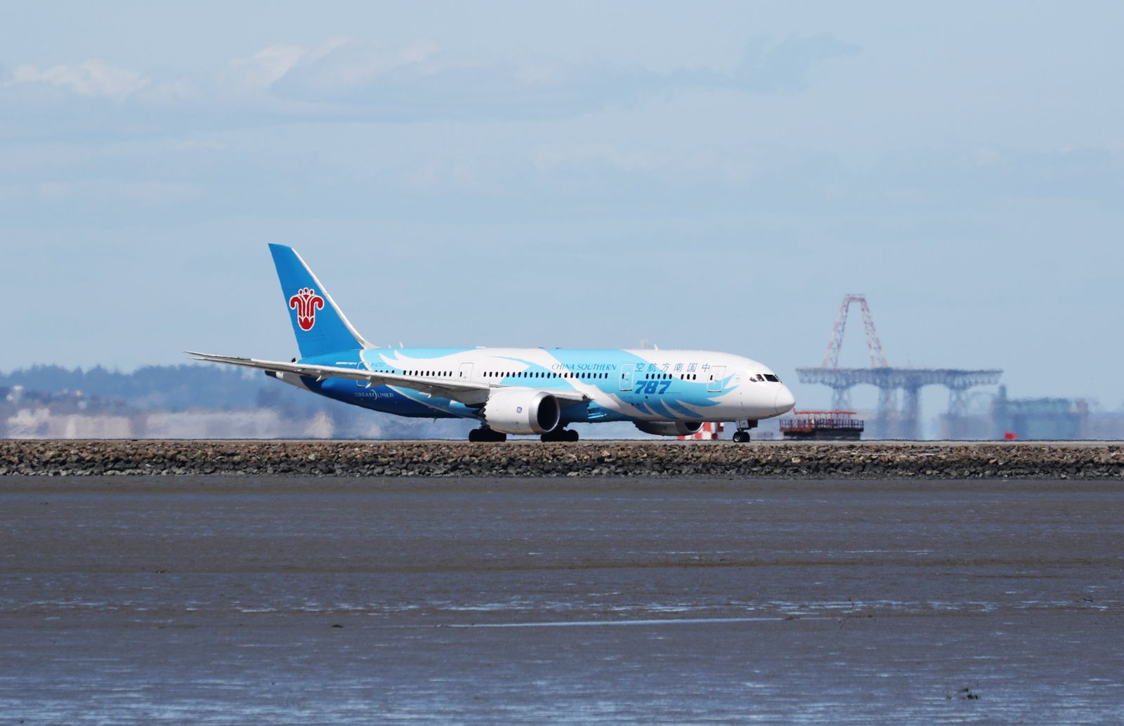 FILE PHOTO: A China Southern Boeing 787, with Tail Number B-2727, taxis at San Francisco International Airport, San Francisco