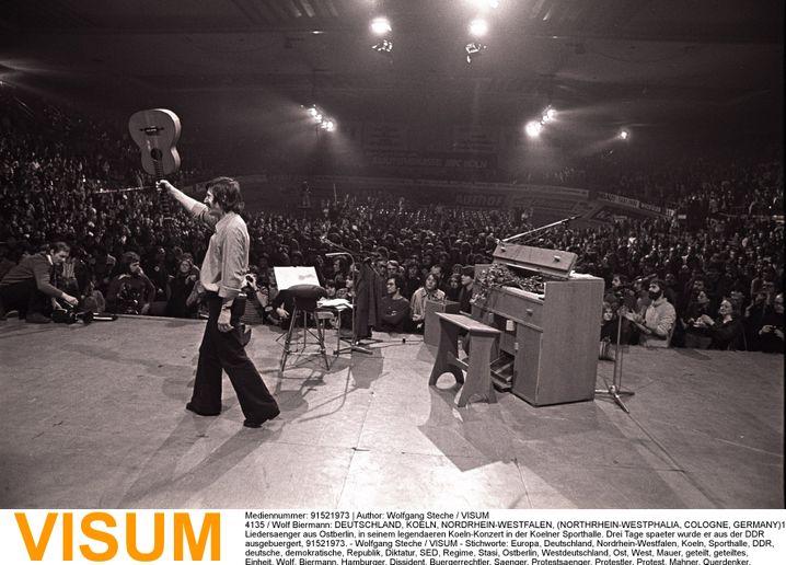 Sänger Biermann in Köln im November 1976: Ungetrübtester Glückstag im Leben