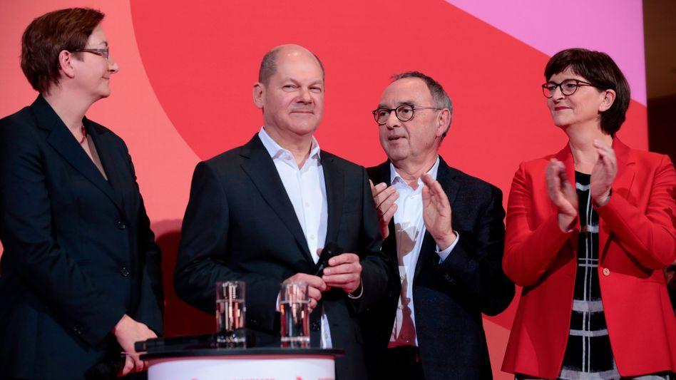 SPD-Spitzenpersonal Geywitz, Scholz, Walter-Borjans und Esken