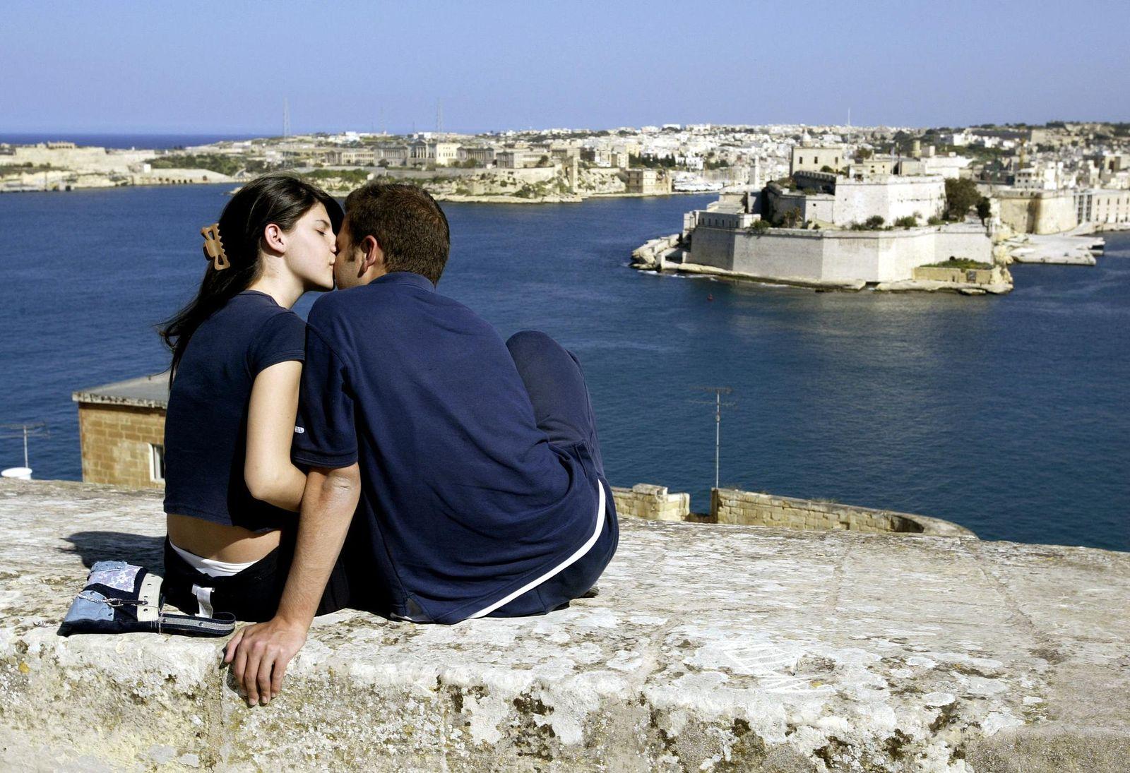 Malta/ Valletta/ Pärchen