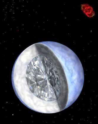 Diamant-Stern: Zehn Milliarden Billionen Billionen Karat
