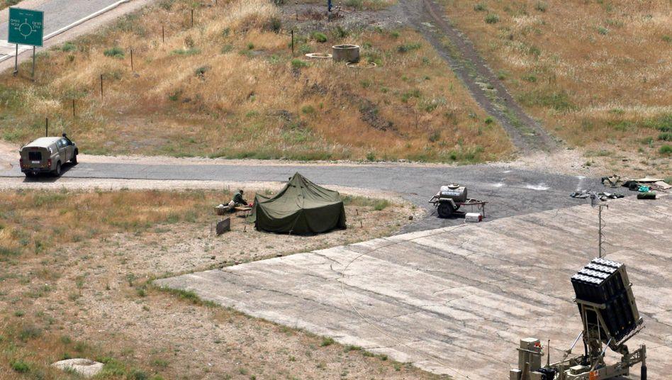 Israelisches Raketenabwehrsystem in den Golanhöhen