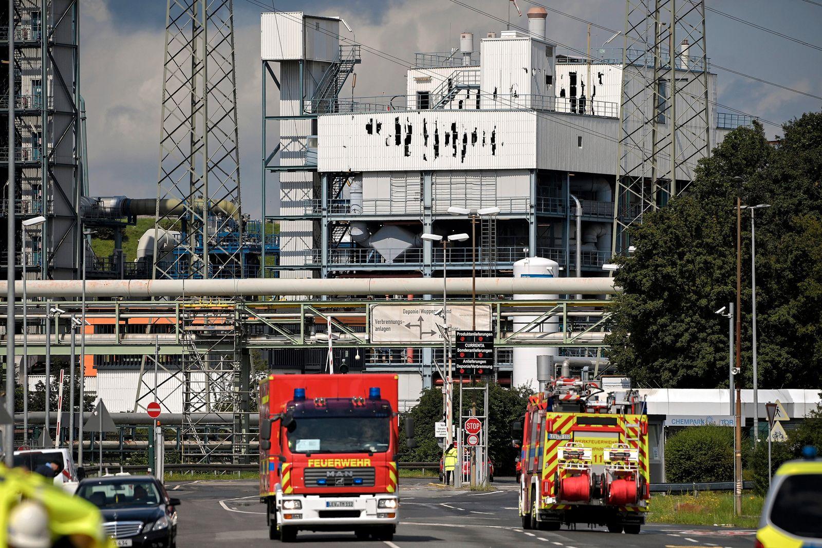 Explosion at Chempark in Leverkusen aftermath