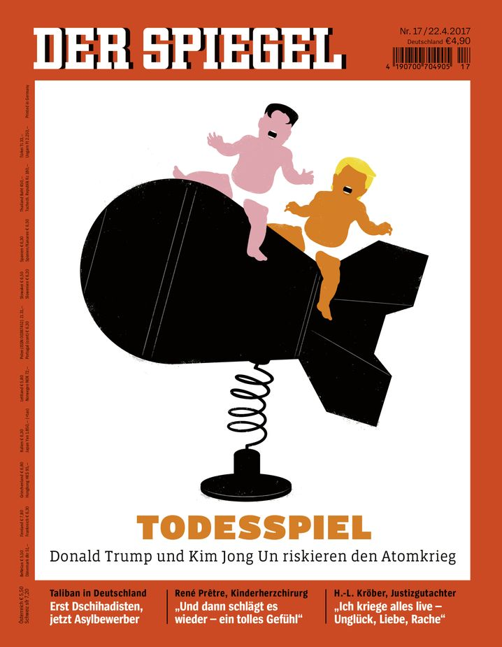 A recent DER SPIEGEL cover depicts Kim and Trump