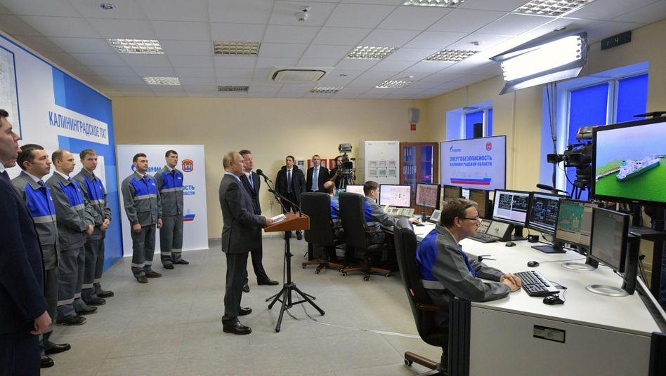 Putin bei der Eröffnung